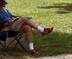 Man in Park reading (LarryJay99 ) Tags: men male man guy guys dude dudes legs hairy hairylegs whitesocks legscrossed park urban candid unsuspecting stealthshot
