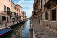 un'altra passeggiata (littletinperson) Tags: boats canale dorsoduro venezia venice italia italy water sky clouds color streetsofvenezia unaltrapasseggiata littletinperson fondamentasoranzodellafornace
