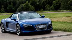 Audi R8 Supercar (Sue_Shaw) Tags: audi audir8 r8 car racing sportscar blue transport canon canon80d 24105 canoneos drive driving stoneleighpark warwickshire coventry