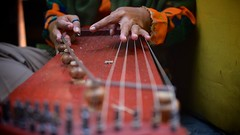 Javanese Sitar (MrCrisp) Tags: java indonesia solo street music musical instrument hands colour sitar song play travel
