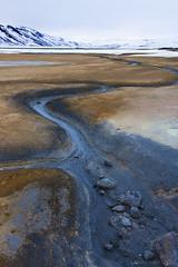 follow this very different kind of flow (lunaryuna) Tags: iceland centralnorthiceland highlands myvatnregion hveirvolcanicfield mudgeysirs activevolcanism volcaniclandscape mudflow mountain snowcappedmountain spring season seasonalchange lunaryuna