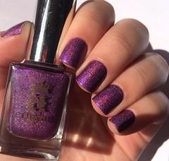 Crown of Thistles (Francinie Helvadjian) Tags: aengland crownofthistles holographic purple nailpolish