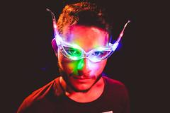 The Queen ([Sushi]) Tags: glasses lights farefesta occhiali luci primopiano portrait