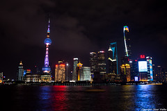 Skyline night (cvielba) Tags: china malecon nocturnas rascacielos rio shanghai