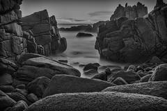 The Passage (BlueberryAsh) Tags: rocks ocean ndfilter longexposure 10stopndfilter australia phillipisland thepinnacle bw monochrome seascape thepinnalce blackandwhite holiday nikond750 nikon24120