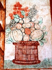 Sucre - Santa Clara affresco 1700 (magellano) Tags: sucre bolivia chiostro cloisters santaclara affresco fresco arte art natura morta stiil life vaso fiori frutta flower fruit claustro
