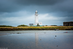 Wading In The Clouds! (dazzbo1) Tags: hurst lighthouse castle coast bay sea gull birds water cloud cloudy stormy rain formation atmospheric boat milfordonsea reflection wading