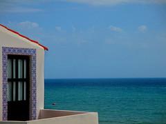 Window on the sea (fanacci) Tags: window sea sky albufeira algarve portugal 2016 blue azulejo