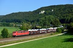 151 040 Breitenfurt (4542) (christophschneider1) Tags: kbs990 breitenfurt altmhltal oberbayern dbcargo db 151 151040 ganzzug autotransport neuwagentransport ga52680 audi