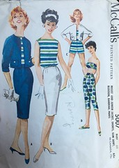 5007 (mrogers1@uw.edu) Tags: jacket shorts bandeau skirt blouse top shirt pants incomplete vintage jackets blouses tops skirts blouson strapless wardrobe mccalls 1959 sleeveless hook eye closure slim tapered capri box lingerie