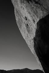 Rock Face (DPRPhoto) Tags: joshuatreenationalpark echorock rockformations blackandwhite desertlandscape