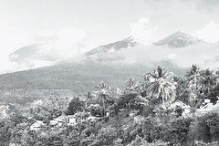 Mount Rinjani (siew_wei) Tags: iphone blackandwhite landscape travel lombok rinjani mount