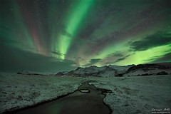 A Rare Sight (orvaratli) Tags: winter light sky mountain snow cold green night stars lights iceland space arctic aurora northern örvar arcticphoto