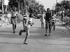 streetaction with kids // mamelodi, south africa (pamela ross) Tags: life africa street girls playing boys kids pen southafrica jumping balloon streetphotography games olympus township lusaka mamelodi pamelaross epl5