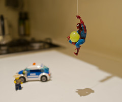 Spiderman steals a grape under the Sheriff's watch (luxx11) Tags: cheers chuck cheers2 chuck2 chuck3 chuck4 cheers3 cheers4 chuck6 chuck5 chuck7 chuckedbythepigsty