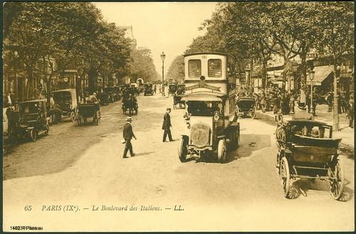 Paris - La Boulevard des Italiens. - LL. ~ 1900.