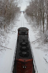 From On Top (JayLev) Tags: bridge cn train engine genoa exhaust canadiannational 5780 derbylineroad