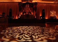 Pattern Projection - Amber/Champagne Lighting - Drapery Lighting
