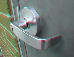 IMG_5413DoorHandle (EdwardMitchell) Tags: red canon is stereoscopic 3d spokane cyan anaglyph powershot bellevue sx1 stereoscopy