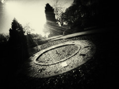time (fotobananas) Tags: sunlight clock monochrome liverpool pen woods time olympus pinhole wanderlust timetravel ep1 camphill woolton wooltonwoods tickingaway fotobananas wanderlustcameras pinwide