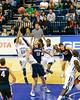 USD Toreros vs Gonzaga Bulldogs 02-02-13 Chris Anderson hook over Kelly Olynyk
