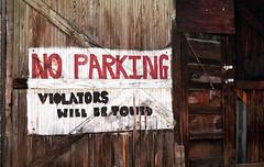 no parking-color (ANC'N'VA) Tags: wood film me sign 50mm gold virginia pentax kodak painted super va 400 17 fredericksburg f17