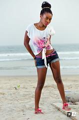 trying to curve it (DextDee) Tags: africa sunset woman black hot cute sexy beach girl model nikon chocolate african hannah curves 85mm ghana braids ebony strobe ltc sb900 d7000 yn465 dextdee