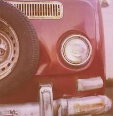 (Nate Matos) Tags: old bus slr film car vw oregon volkswagen portland polaroid sx70 industrial pdx van expired camper slr680 680 believeinfilm