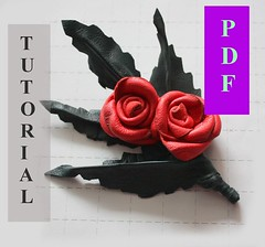 PDF Tutorial Leather Rose Pin / Brooch / instruction / guide how to make step by step instruction (VitalTemptation , Etsy) Tags: instruction leatherwork tutoria makeyourself howitsmade leatherbrooch