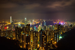 Top of the World (boingyman.) Tags: travel hk skyline night skyscraper canon cityscape peak 1022 long uwa exposure hong kong peak victoria t2i boingyman