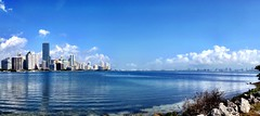 Perfect Miami Skyline (miamism) Tags: miami condos keybiscayne miamiviews downtownmiami miamiskyline rickenbackercauseway miamirealestate miamisky brickellcondos downtownmiamicondos miamisms miamiclouds