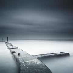 Dead End (Timo Lieber) Tags: longexposure blue sea seascape canon kent cloudy structures lee tidalpool 5dmarkii bigstopper
