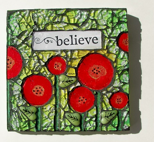 "Mosaic Wall Art ""Believe""-SOLD"
