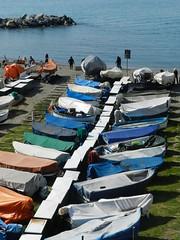 in fila per sei col resto di due.... (g.fulvia) Tags: sea boats italia mare liguria barche genova boccadasse