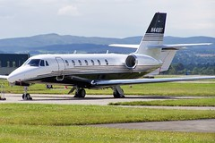 N446RT (markyharky) Tags: airport glasgow aircraft aviation planes cessna 680 gla sovereign citation glasgowairport egpf cessna680citationsovereign n446rt