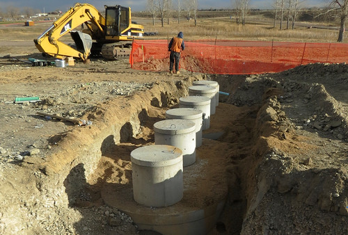 Photo - Reservoir gate entry project - boat inspection station construction