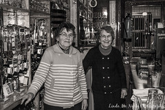 Nan & Patricia Brennan from Brennans Bar in Bundoran (linda_mcnulty) Tags: old ireland bw irish bar sisters pub traditional elderly bartenders donegal bundoran oldfashioned brennans publican brennanscriterionbar