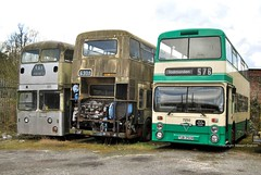 Helms line-up 11/03/13 (MCW1987) Tags: ribble leyland atlantean weymann rrn423 wmpte foden nc northern counties roc300r west yorkshire helms eastham wypte tub250r