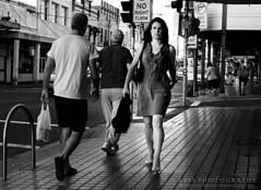 My Way Home (Bass Photography) Tags: road street men trafficlight women cross traffic path streetsign streetphotography australia rushhour oneway innercity innerwest rozelle leichhardt lilyfield norightturn darlingstreet innercityofsydney australiansuburbs