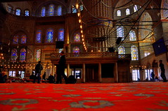 DSC_0104 (turkishphotographer) Tags: light people art carpet prayer religion pray mosque bluemosque cami sultanahmet sanat k ini hal ileme