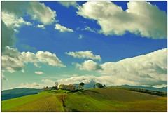 Traditional agricultural landscape of the Marche - Italy (Uscè (OFF,OFF!!!!!)) Tags: friends light sky italy panorama sun tree green nature colors skyline clouds landscape photo nikon europe country perspective hills marche jesi eugenio staffolo coppari paesaggimarchigiani mygearandme mygearandmepremium mygearandmebronze uscè rememberthatmomentlevel1 rememberthatmomentlevel2 rememberthatmomentlevel3