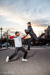 Shooting Hip-Hop improvis (Achraf CHOUCHANE) Tags: dance danse hip hop freestyle paris pont bridge contre jour soleil sun sunny day achraf chouchane just debout