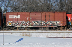 Mecro Sexes (The Braindead) Tags: art car minnesota train bench photography graffiti box painted tracks minneapolis rail explore beyond sexes cdc the mecro