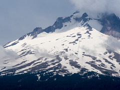 patchy face (dolanh) Tags: snow clouds mthood timberline trilliumlake chairliifts