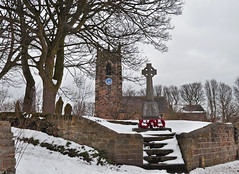 St Michael's, Emley (littlestschnauzer) Tags: trees england white snow cold tree church weather st century march nikon worship village snowy bare north bad scenic freezing scene fresh historic christian poppies historical cenotaph 14th snowfall heavy 24th pennine michaels huddersfield snowed cofe wintry emley 2013 d5000 elementsorganizer11 2432013