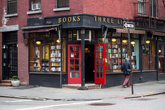 88/365 Bookstore (Andriy Prokopenko) Tags: nyc red newyork 50mm doors unitedstates manhattan westvillage bookstore canon50mmf18 day88 reddoors canon6d day88365 3652013 365the2013edition 29mar13