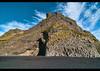 Stuðlaberg basalt columns on Reynisfjara black sand beach near Vik, southern Iceland (jitenshaman) Tags: travel beach nature landscape blacksand iceland europe natural vik destination column basalt stuðlaberg reynisfjara víkímýrdal worldlocations studlaberg reynisfjoru