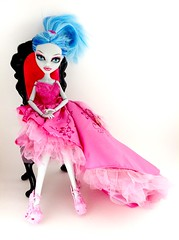 tiKity~tOk's DNTMMHO Theme 2: Interview (AcornBunny) Tags: pink monster high doll dress mattel bratz dntm ghoulia acornbunny dntmmho