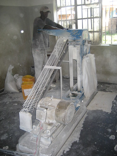 Maize mill at Sefula rice scheme association in Sefula, Zambia. Photo by Kate Longley, 2013.