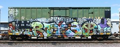 Dirty 30 (quiet-silence) Tags: railroad art train graffiti stamp railcar boxcar graff d30 freight stamped fr8 endtoend dirty30 wyse cnw e2e cnw520054